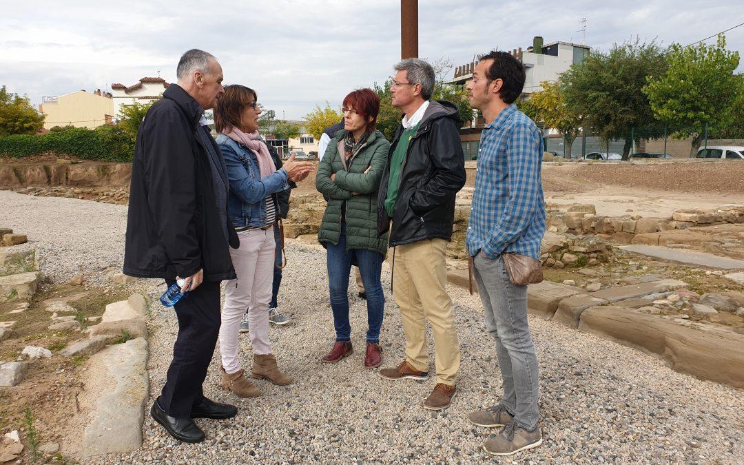 Visita de la directora de la Direcció General del Patrimoni Cultural, Elsa Ibar