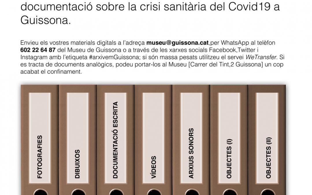 El Museu de Guissona s'adhereix a la campanya Arxivem el moment, Arxivem Guissona